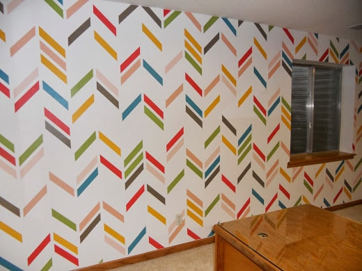 Color-Crazy Herringbone that has a variety of colors