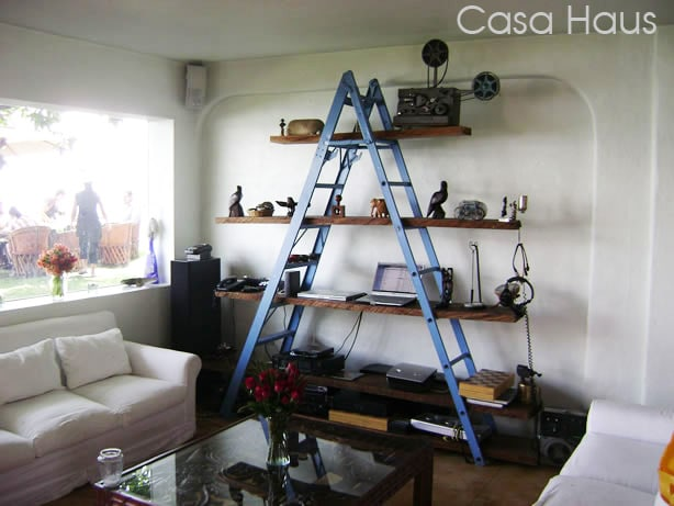 do it yourself ladder bookshelf