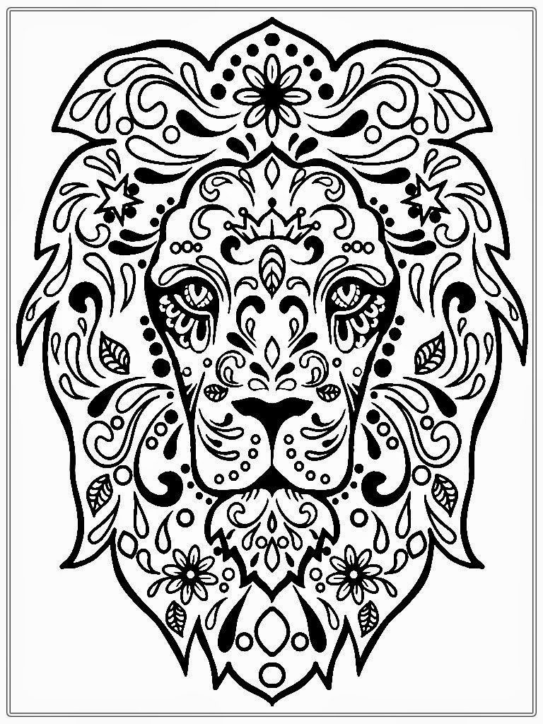 lion free printable wood burning pattern