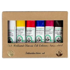 old holland oil paint set for canvas