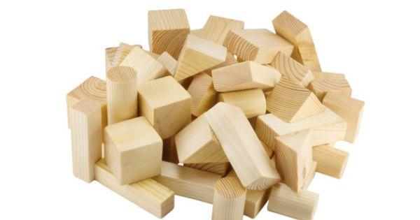 wood burned building blocks